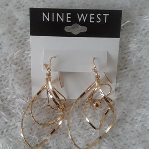New Nine West Gold Tone Earrings